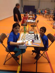 Dalya Mang tegen clubgenoot Om Desmukh in het FGH-toernooi