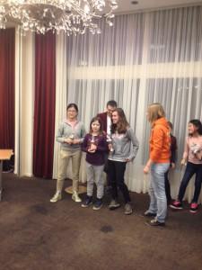 Meisjestoernooi 2 januari 2016 Den Haag Eline en Jessie